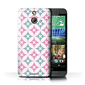 KOBALT? Protective Hard Back Phone Case / Cover for HTC One/1 E8 | Pink/Blue Design | Kaleidoscope Pattern Collection