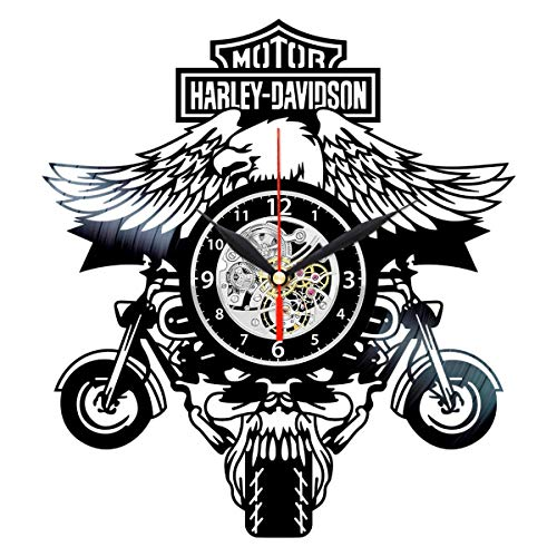 Harley Davidson Vinyl Clock - Vinyl Record Wall Decor - Vintage Harley Davidson Gifts for ()