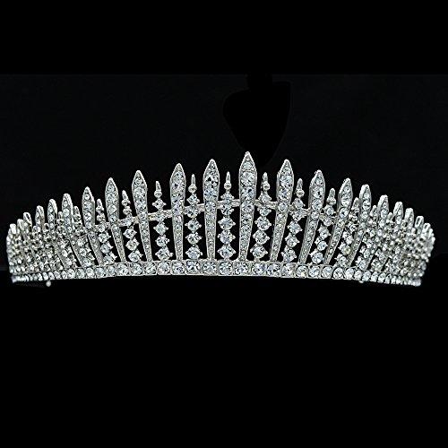 Real Austrian Rhinestone Crystals Wedding Bridal Crown Tiara Diadem Hair Accessories Jewelry JHA7758