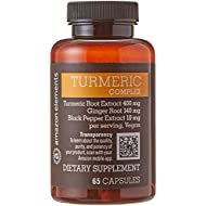 Amazon Brand - Amazon Elements Turmeric Complex with Black Pepper and Ginger, Curcumin Supplement, 65 Capsules, 2 month supply