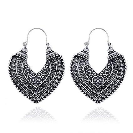 d269b37aa2514 Fashion Women's Boho Ethnic Drop Dangle Vintage Earrings Jewelry Bronze  Silver (Antique Silver)
