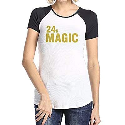 Bruno Mars 24K Magic Logo Women's Raglan Baseball T-Shirt