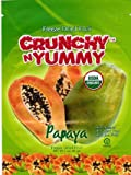 Crunchy N Yummy Organic Freeze Dried Fruit Papaya (Pack of 6)