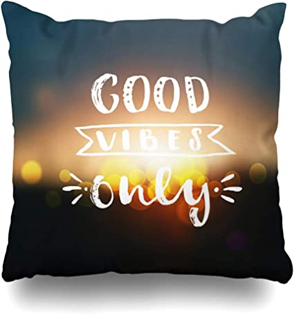 Diycow Throw Pillows Covers Positive Hand Drawn Lettering Graphic Inspirational Quotes Abstract Good Calligraphy Cushion Case Pillowcase Home Sofa Couch Square Size 18 X 18 Inches Pillowslips Amazon Co Uk Kitchen Home