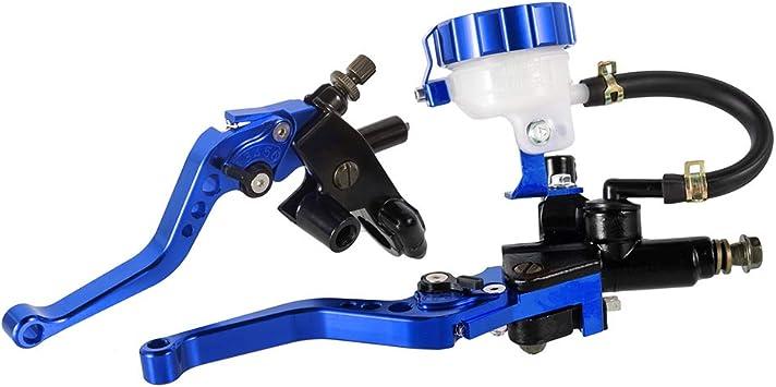 Leva freno moto Olio per impugnatura moto universale Leva freno Frizione Pompa frizione 1 paio da 7//8 argento 22mm