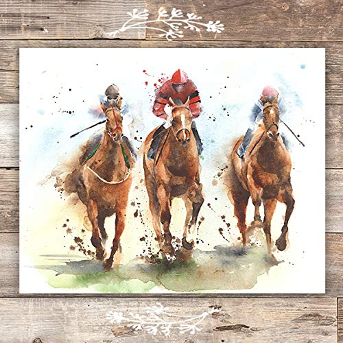 Horse Racing Wall Art Print - Unframed -