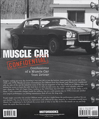 Muscle Car Confidential Confessions Of A Muscle Car Test Driver
