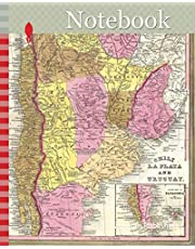 Notebook: 1846, Burroughs, Mitchell Map of Argentina, Uruguay, Chili in South America
