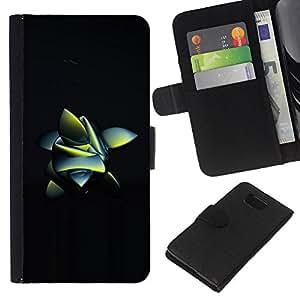 Planetar® Modelo colorido cuero carpeta tirón caso cubierta piel Holster Funda protección Samsung ALPHA G850 ( Abstract Frog Nature Inspired Black 3D )