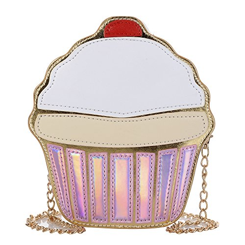 Women's PU Cartoon Food Shape Handbag Casual Cross Body Handbag Purse
