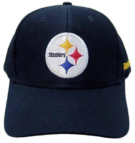 追加ギャラリー家畜NFL Pittsburgh Steelers基本的なロゴベルクロ留め野球帽子、チームプライマリ色