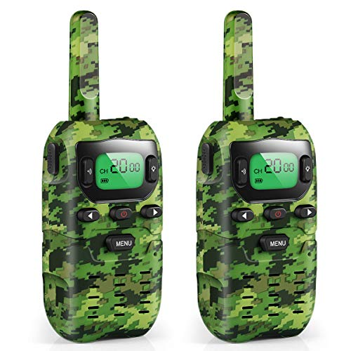 Boy Toys, Kids Walkie Talkies 22 Channels 3 Miles FRS/GMRS with Flashlight Hand Held Walkie Talkie for Kids and Gifts for Boys Girls Age 4 5 6 7 8 9 10 Year Old