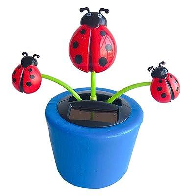 COMFORT INNOVATION Solar Powered Dancing Flowerpot Insect Swinging Dancer Toy Beetle: Garden & Outdoor