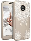 Moto G5 Case, LK Ultra [Slim Thin] TPU Gel Rubber Soft Skin Silicone Protective Case Cover for Motorola Moto G5 - White Henna