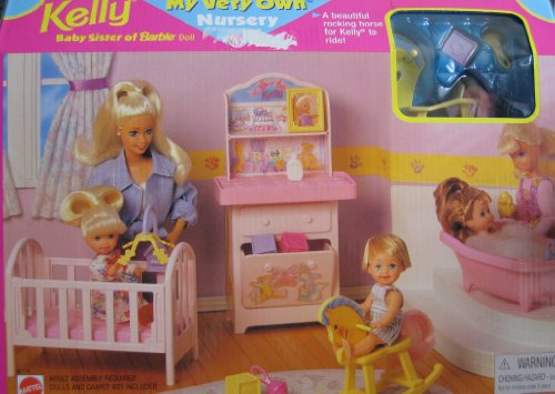 Barbie KELLY My Very Own Nursery Playset (1997 Arcotoys, Mattel)