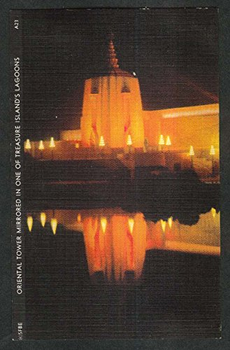 Oriental Tower Mirrored in Lagoon Golden Gate Expo San Francisco 1939 postcard (Mirrored Tower)