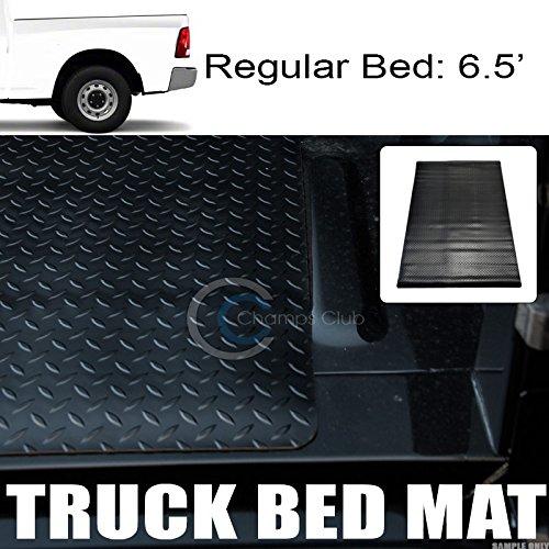 Velocity Racing Black Rubber Diamond Truck Bed Trunk Floor Mat Carpet 04-12 for Colorado//Canyon 5//60