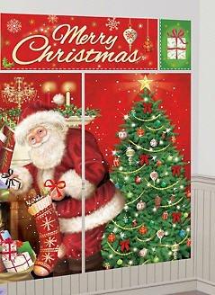 - Merry Christmas Banner & Santa Wall Decoration Kit