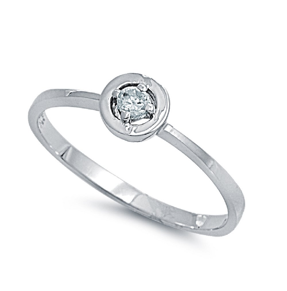CloseoutWarehouse Cubic Zirconia Protection Against The Evil Eye Ring Sterling Silver Size 14