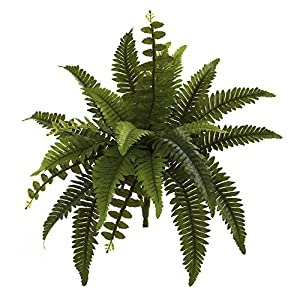 "Nearly Natural 6125-S6 14"" Boston Fern (Set of 6) Artificial Plant Green 89"
