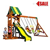 Wooden Swing Sets Cedar Kids Playcenter Backyard Outdoor Fun Games For Physical Activity And Exercise Safe Play - Skroutz