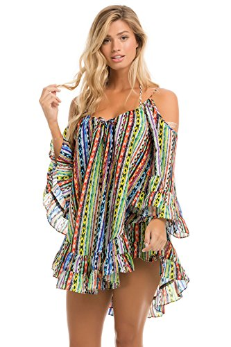 ale by Alessandra Women's Beach Blanket Dress Swim Cover Up Multi M/L by ale by Alessandra