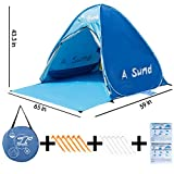 A Sund Outdoor Baby Beach Tent Instant Pop Up Family Beach Umbrella Shade Shelter Canopy Cabana Portable UV Sun Shelters kids for camping