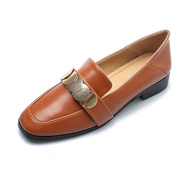 À Cuir Élégant Confortable Jrenok Femme Mocassins Chaussures xnSpnq1O
