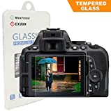 Nikon D5600 D5300 D5500 LCD Tempered Glass Screen Protector, Exuun Optical 9H Hardness 0.33mm Ultra-Thin DSLR Camera Tempered Glass for Nikon D5300 D5500 D5600