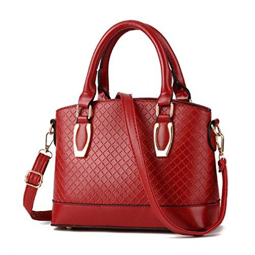 LOMOL Newest Womens Fashion Trendy Elegant Leather Tote Top-handle Handbag Shoulder Bag(C4)