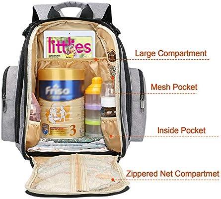 Large Mummy Bag Baby Diaper Nappy Changing Mat Hospital Maternity Backpack UK