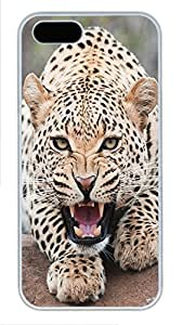 iPhone 5 5S Case Tiger N02 PC Custom iPhone 5 5S Case Cover White