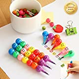 stomp blender - WT 7 Colors Crayons Creative Sugar-Coated Haws Cartoon Smiley Graffiti Pen Gifts For Kids (5PCS/Pack)