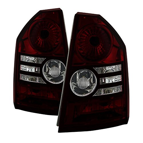 Carpart4u Chrysler 300 2008-2010 ( Fit Base and Touring Models only and models with 2.7L or 3.5L Engines only ) OEM Style Tail Lights Red Smoked
