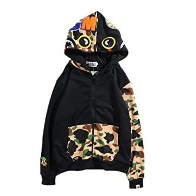 DuoLu BAPE Fashion Zip Hoodie Sweater Jacket for Men Women at Amazon Men s Clothing  store  b84349229