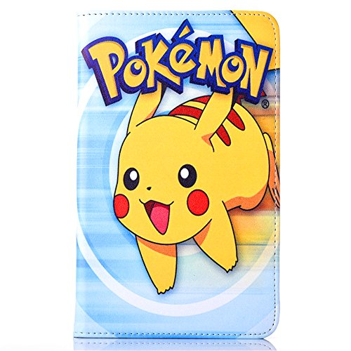 Samsung Galaxy Tab A 7.0 2016 Case, Phenix-Color Pokemon Go Cartoon Cute Premium Flip Stand PU Leather Shell Case for Samsung galaxy Tab A 7.0 inch 2016 SM-T280 SM-T285 Tablet (#04) Photo - Pokemon Gaming