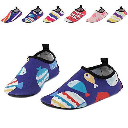 Image of UMmaid Kids Toddler Water Swim Shoes Barefoot Aqua Socks for Beach Pool Surf Yoga