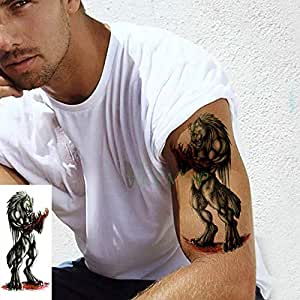 ljmljm 4 Piezas Impermeable Etiqueta engomada del Tatuaje de pie ...
