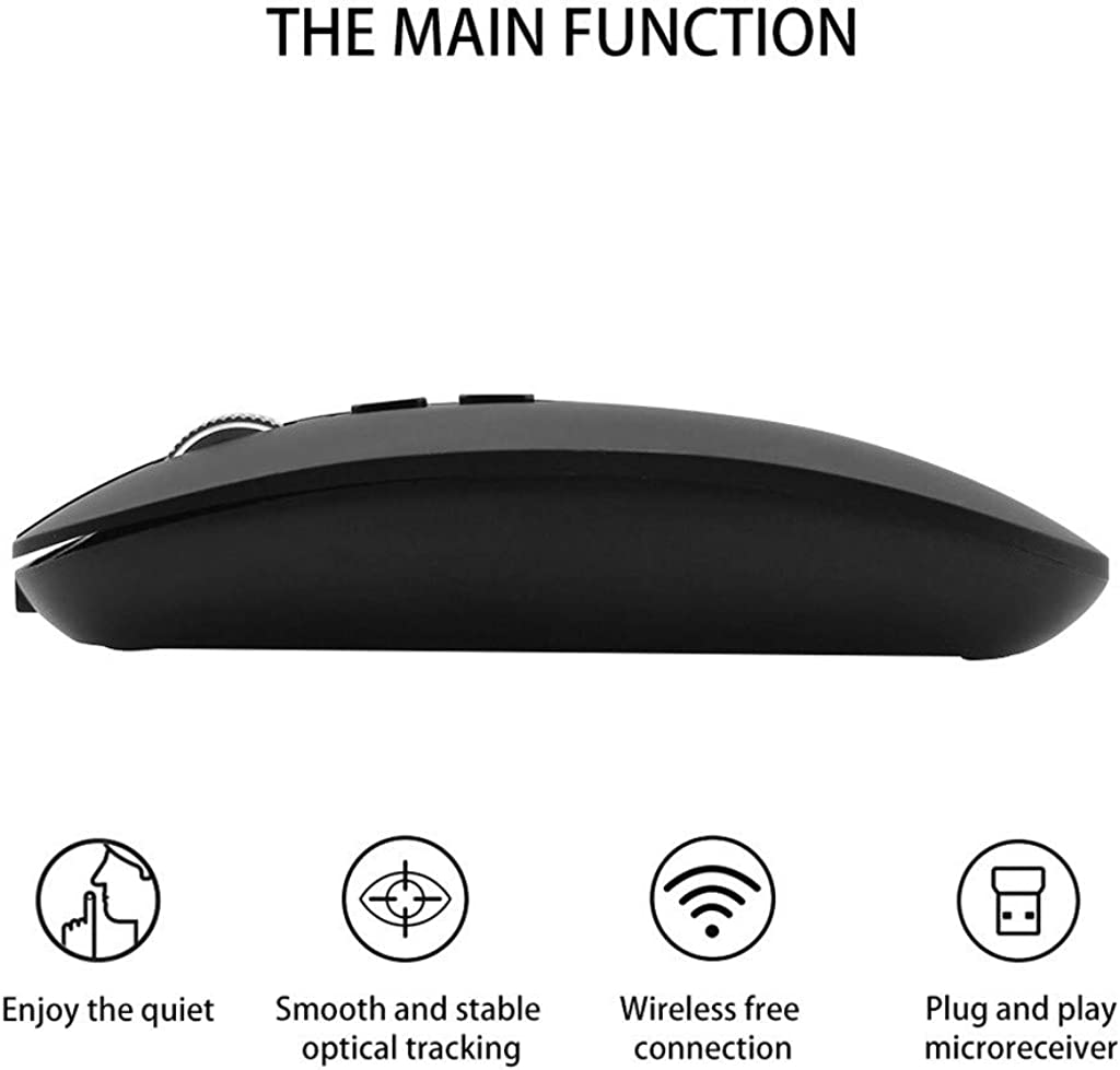CZYCO Rechargeable 2.4G Wireless Mouse Metal Noiseless Silent Click Optical Mouse