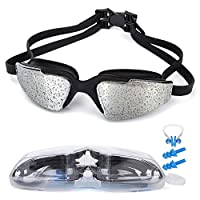 MIGAGA Swim Goggles, Triathlon Glasses ,Anti Fog Cool Design Clear Vision No Leaking UV Protection, Anti-Scratch Swimming Glasses,Free Earplugs And Nose Clip