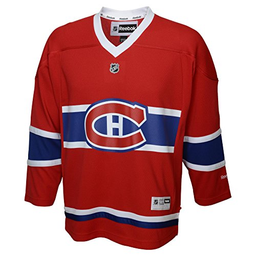 Montreal Hockey Jersey Canadiens (OuterStuff NHL Montreal Canadiens Boys 4-7 Team Replica Jersey, One Size, Red)