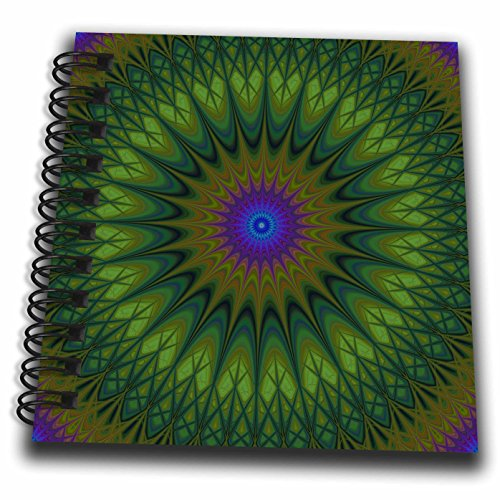 3dRose David Zydd - Star Mandalas - Nature Mandala - Round Abstract Star Ornament Design - Mini Notepad 4 x 4 inch (db_284064_3)
