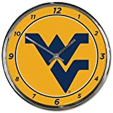 NCAA West Virginia Mountaineers WinCraft Official Chrome Clock