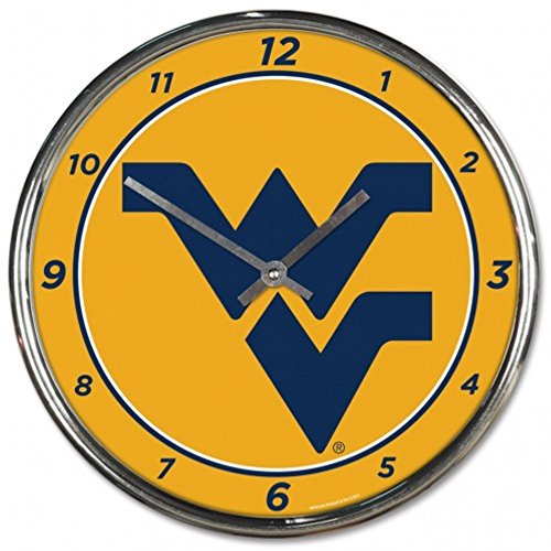 NCAA West Virginia Mountaineers WinCraft Official Chrome Clock by NCAA