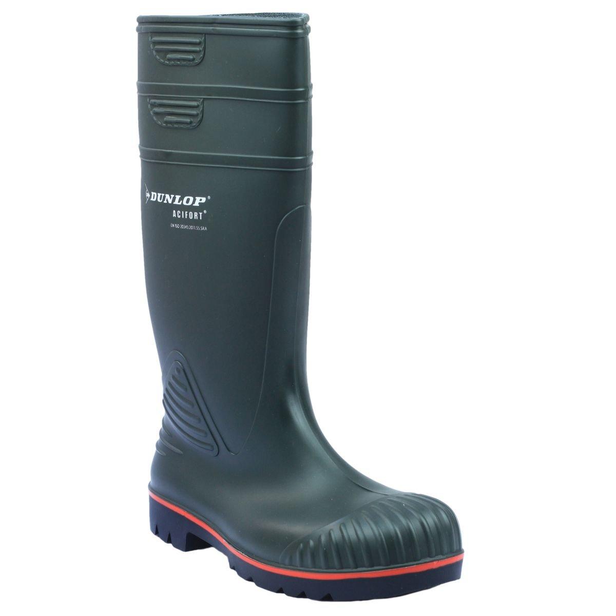 Dunlop Acifort A442631 Heavy Duty Sicherheit Gummistiefel grün Größe 8