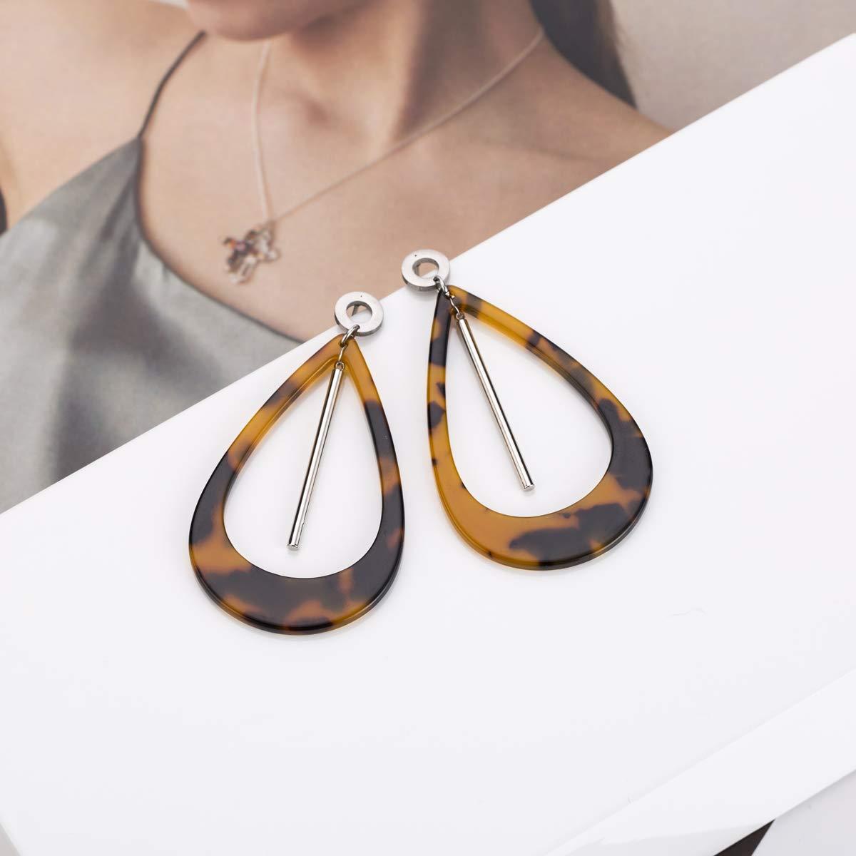 Acrylic Earrings for Women Tortoise Shell Earrings Leopard Earrings Bohemia Style Gifts for Girls
