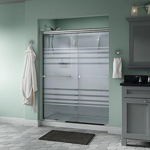 Delta Shower Doors SD3172283 Trinsic 60'' x 70'' Semi-Frameless Traditional Sliding Shower Door in Chrome with Transition Glass by Delta Shower Doors