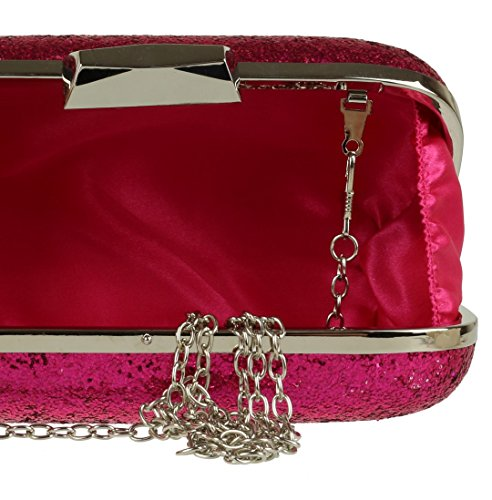 Glitter Girly Hard HandBags Fuchsia Sparkly Girly Case HandBags xAawqdT8qn