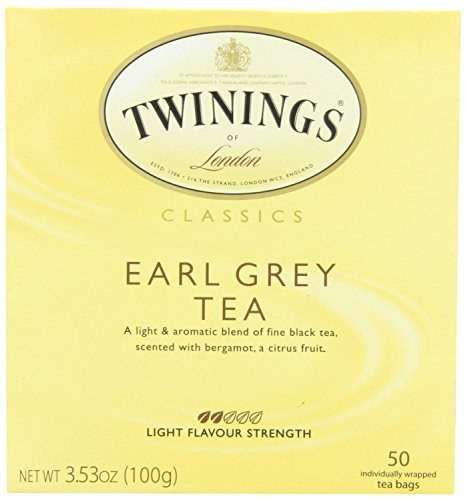 Twinings Earl Grey Tea, Tea Bags, 50-Count Boxes (Pack of 2) by Twinings