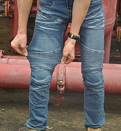 L- Hommes de Protection Moto Pantalon Jeans Bleu Waist 34.5